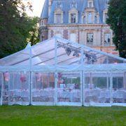 Location de chapiteau transparent pour mariage