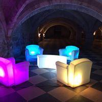 location de fauteuil lumineux à LED