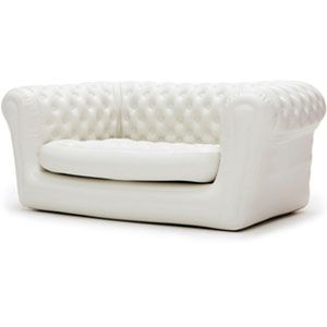 Canapé Chesterfield gonflable blanc